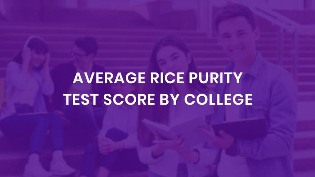 Average Rice Purity Test Score